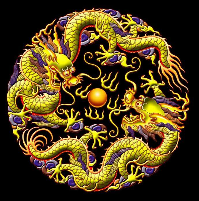龙和蛇缠在一起的图片